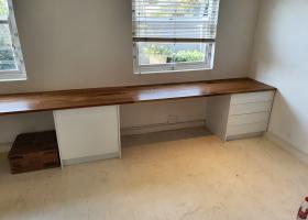 White Oak Office Counter