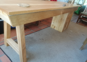 Oak and French Sycamore desk